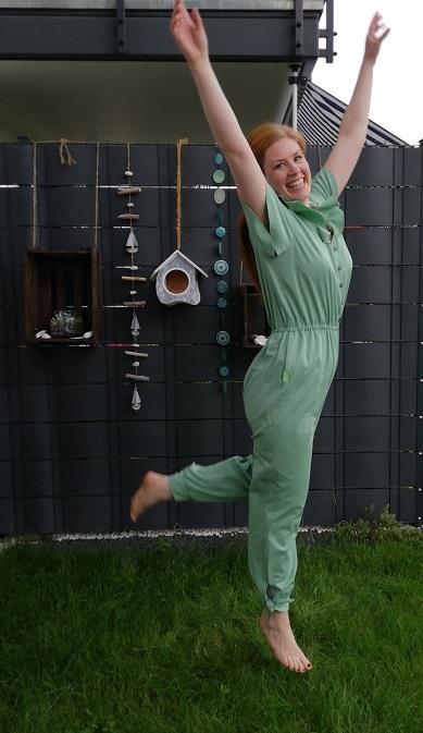 Crew Box Jumpsuit Penelope  helles mint