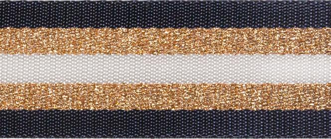 Gurtband Glamour Navy   38mm