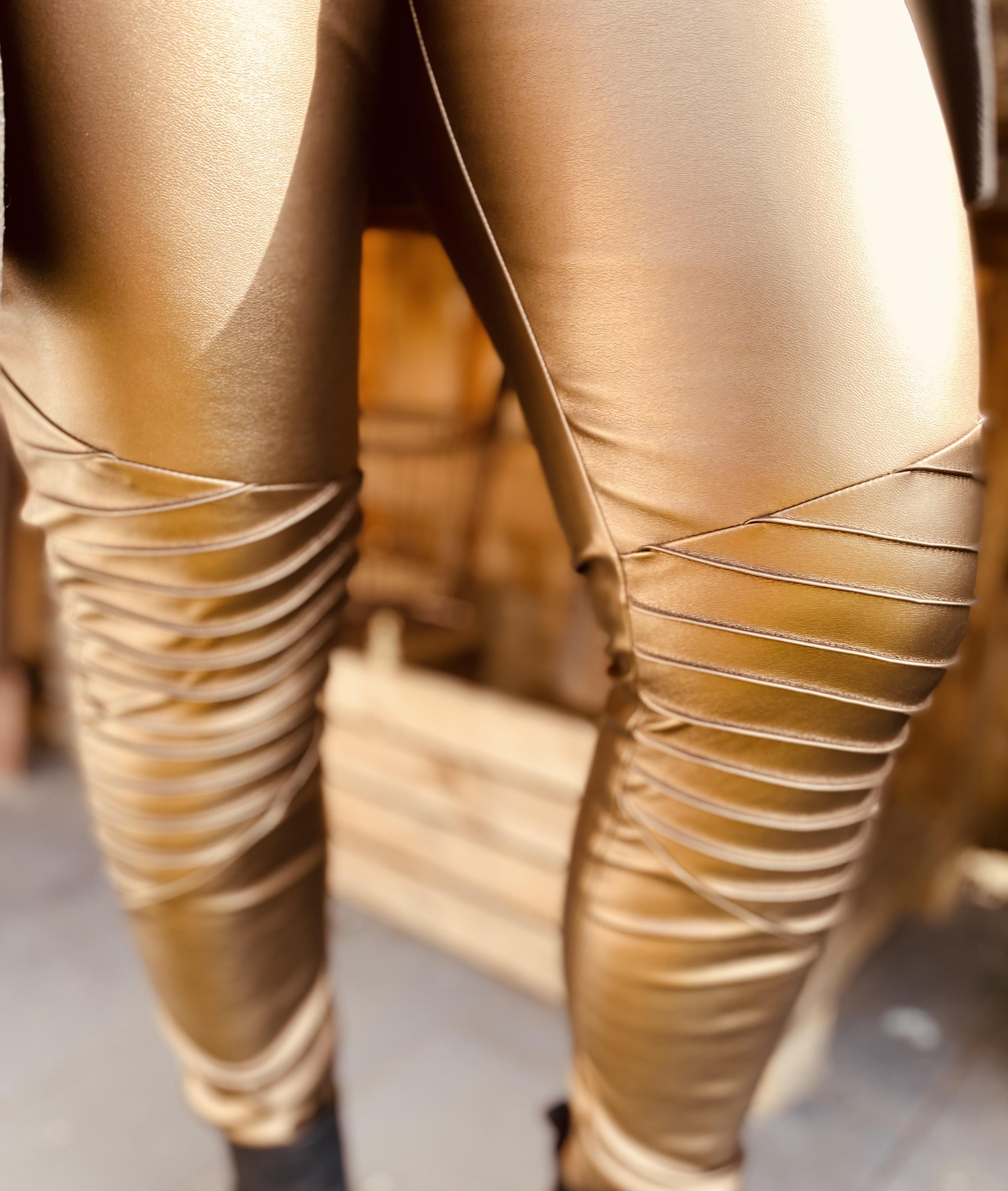 Stretch Kunstleder Bronze