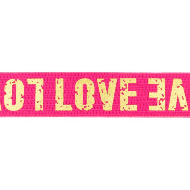 Gummiband Love Gold Pink