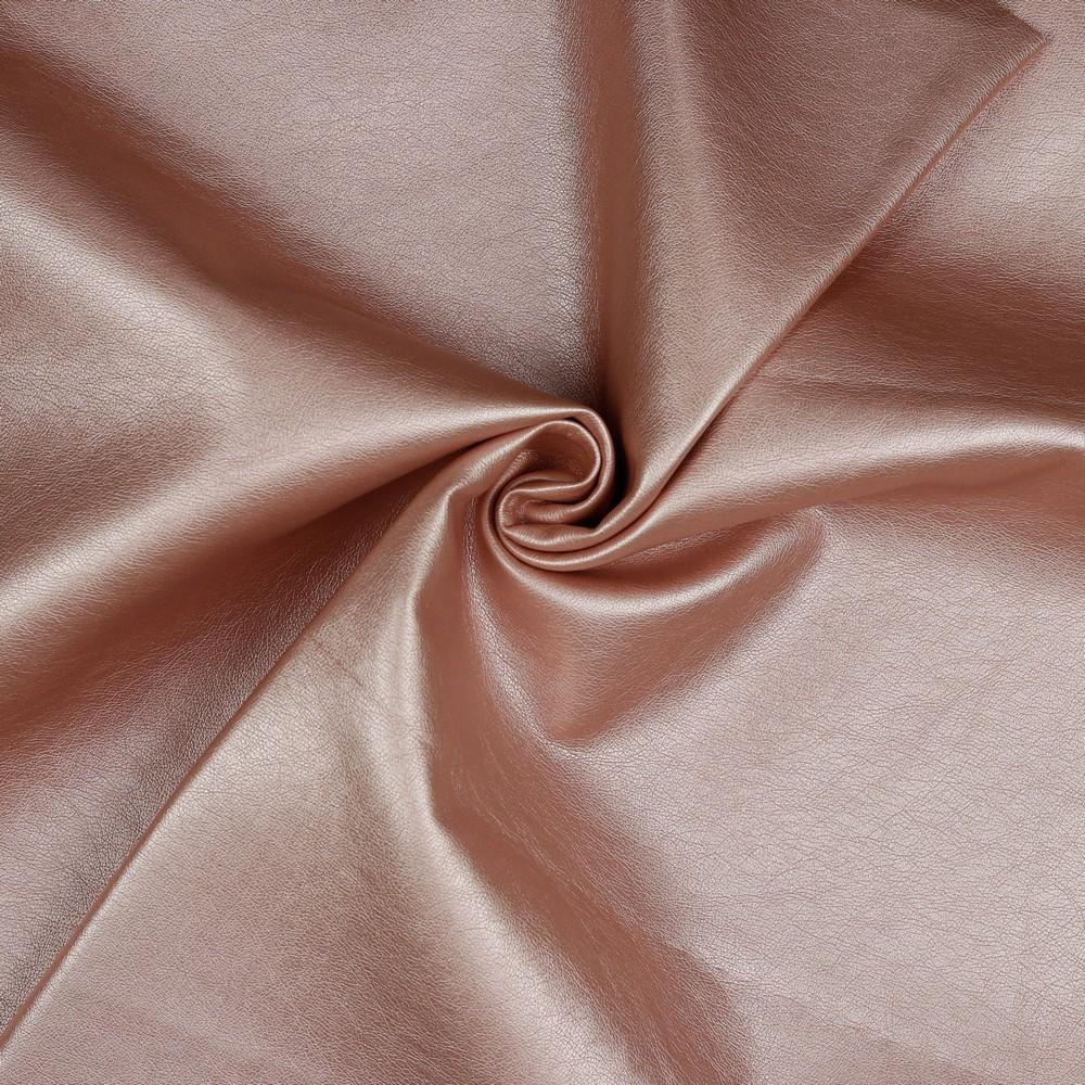 Kunstleder Rose Metallic