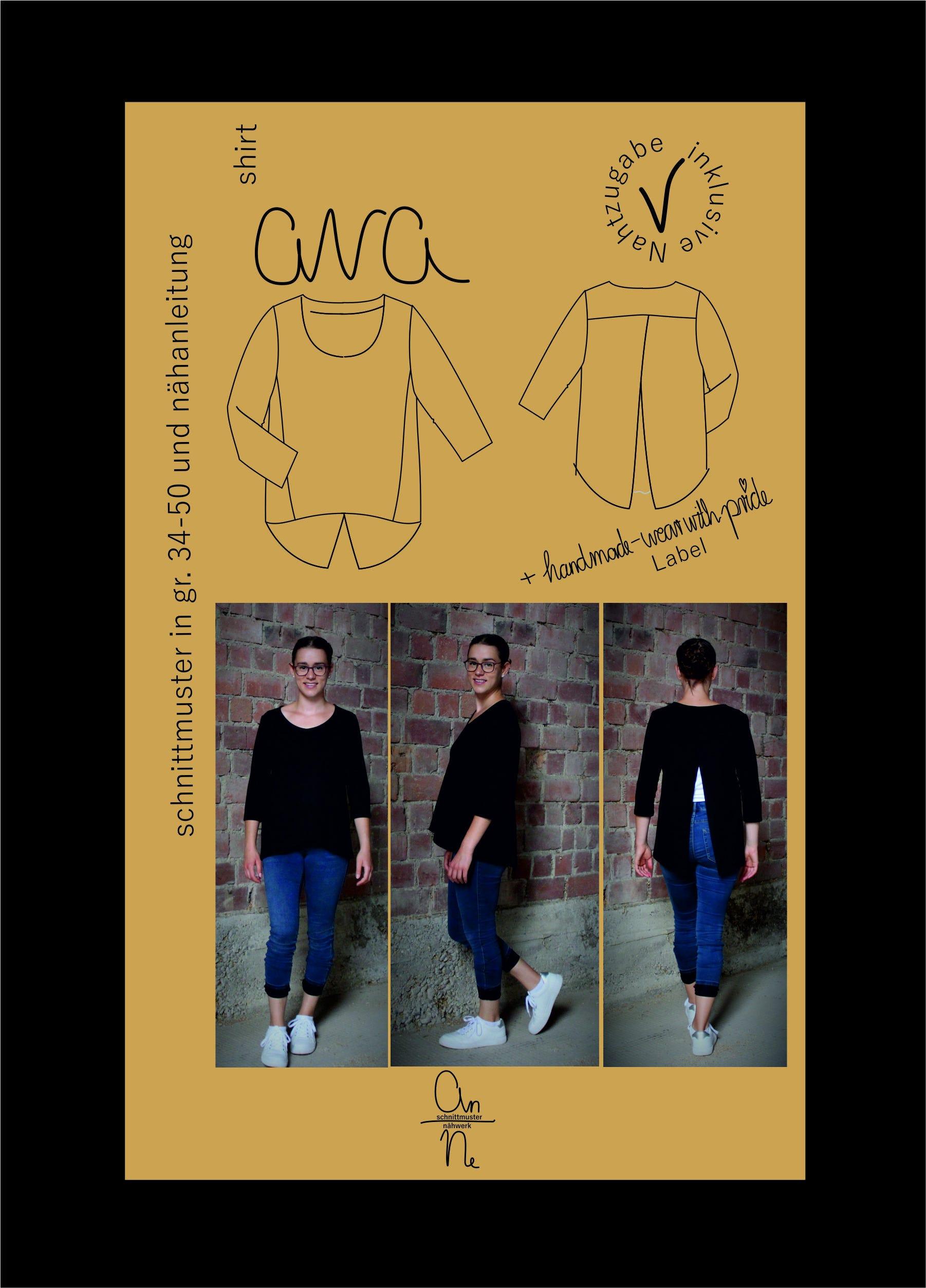 Schnittmuster Shirt Ava Annes Schnittmuster Naehwerk