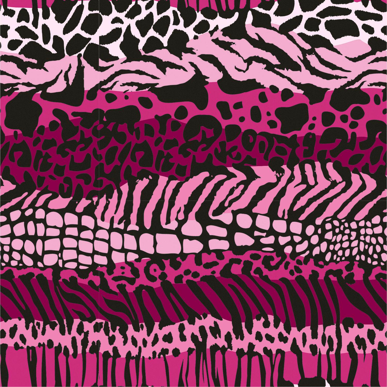 Baumwolljersey Animal Zebra Pink