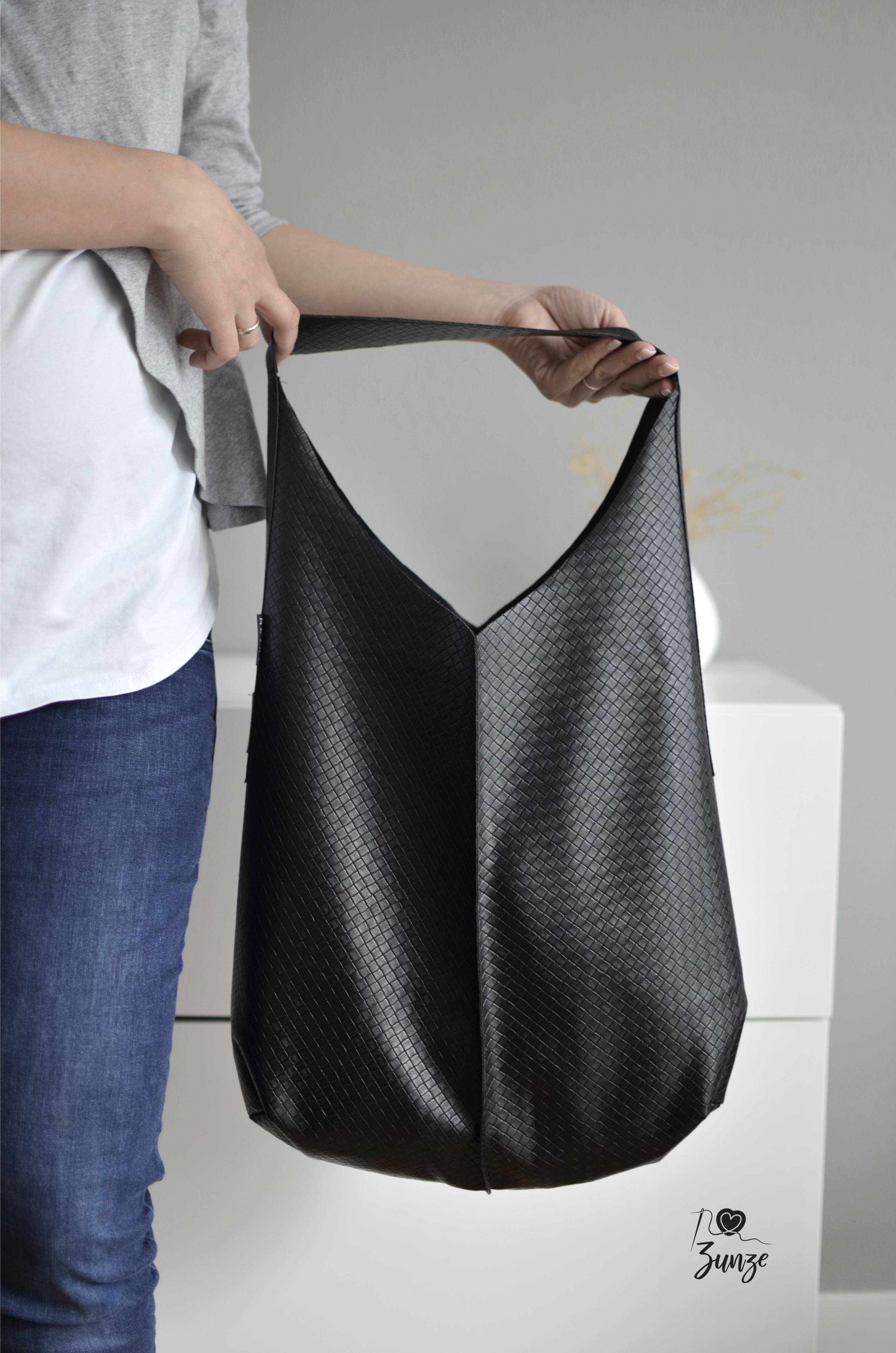 Crew Box Purely Bag Kunstleder Karos Schwarz