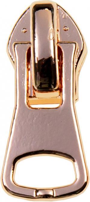 Zipper 5 mm Rosegold Kantig