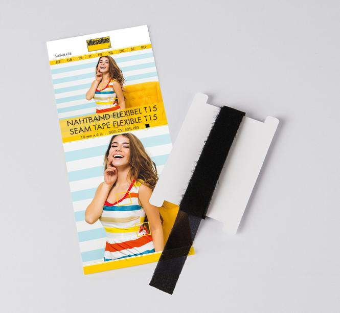 Nahtband flexibel T15 Schwarz