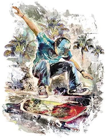 Bügelbild Skater Boy