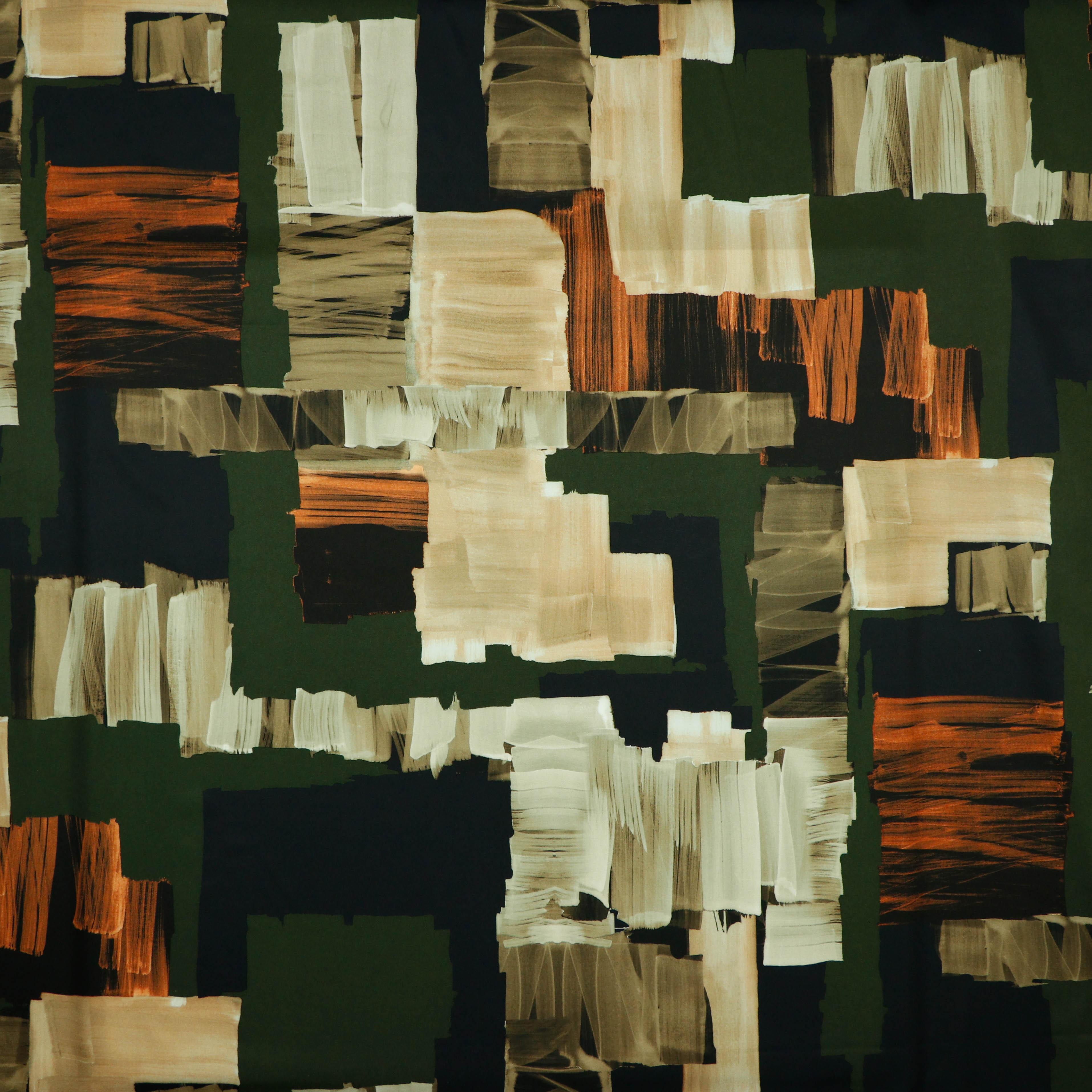 Magnolia Stretch Color Blocks  green
