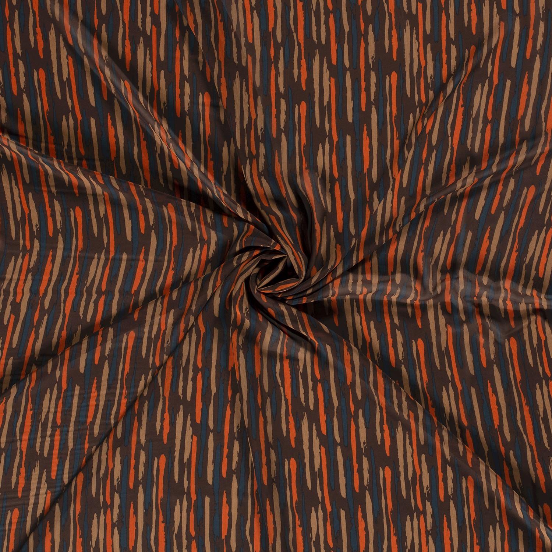 Chiffon Stripes Petrol Orange