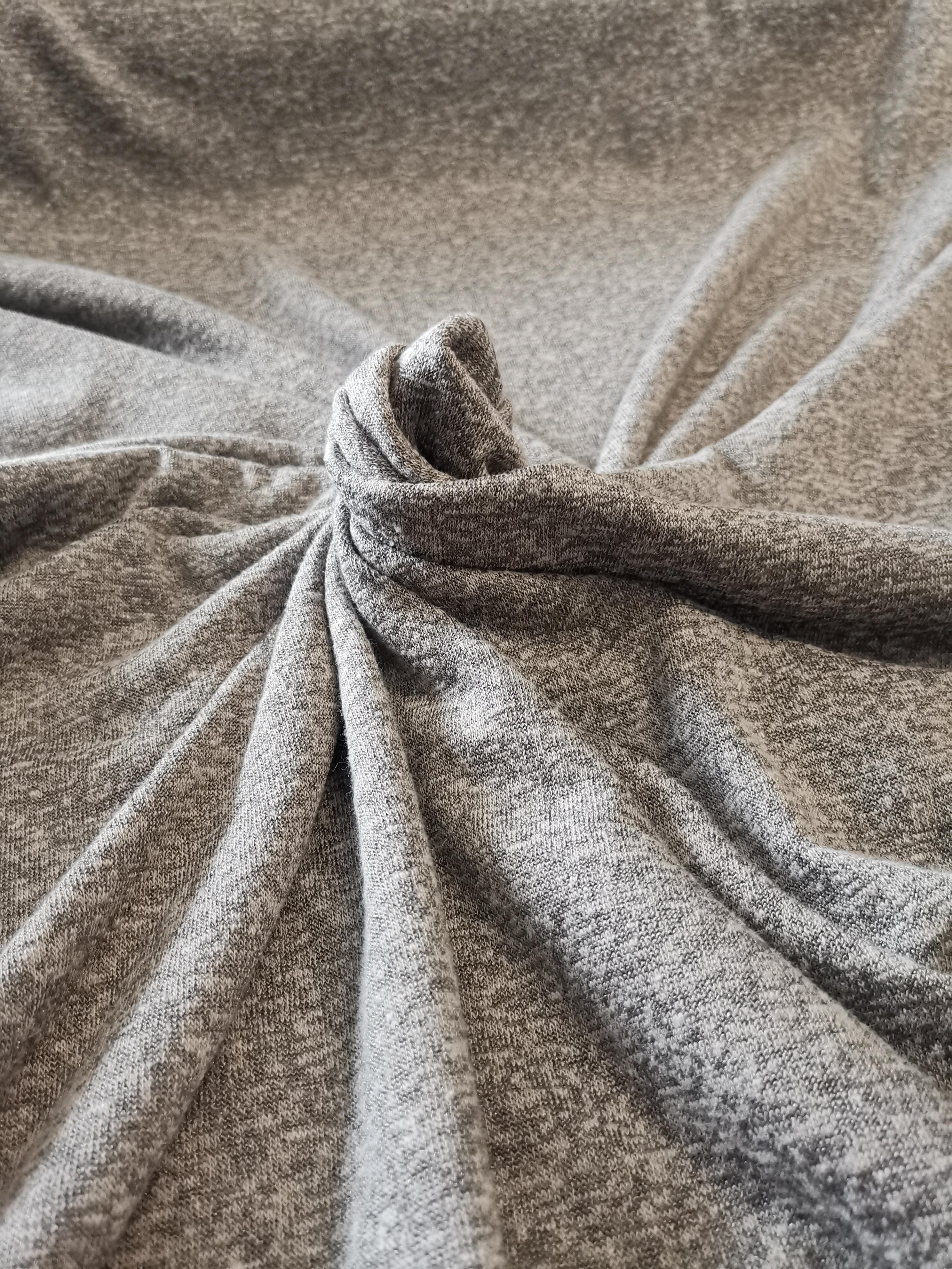 Feinstrick Grau Melange