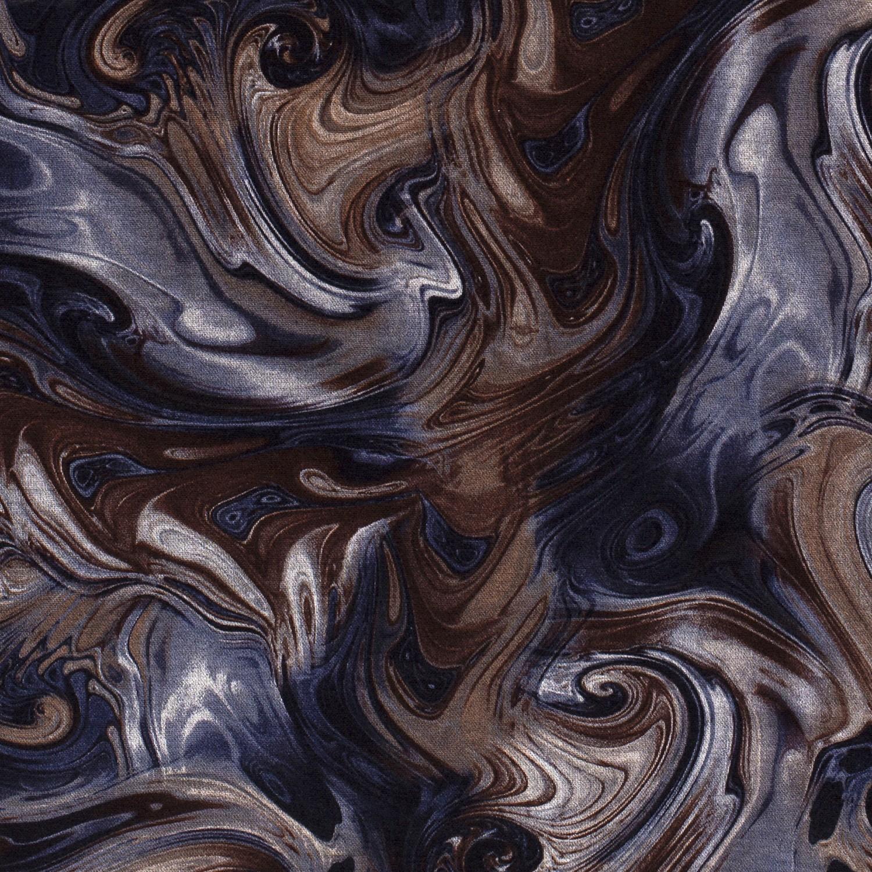 Viskose Feinstrick Muster Blau